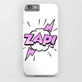 Zap Typography! iPhone Case