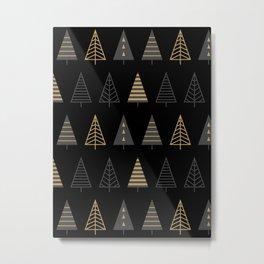 MODERN CHRISTMAS TREES 2 Metal Print
