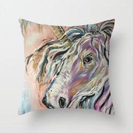 Serene Unicorn Throw Pillow