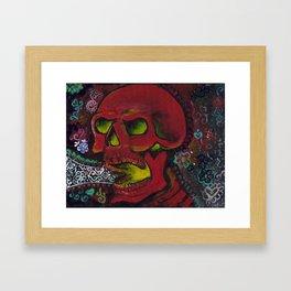 THE SKULL, Halloween Art Framed Art Print