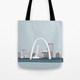Modern Minimal St. Louis Missouri City Skyline Tote Bag