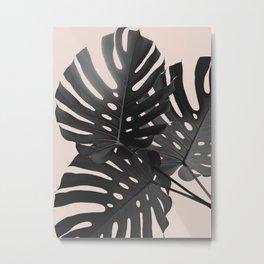 Tropical Monstera Finesse Glam #1 #tropical #decor #art #society6 Metal Print