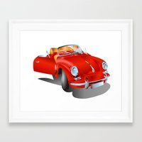 porsche Framed Art Prints featuring Porsche by Paola Canti