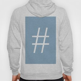 number sign on placid blue color background Hoody