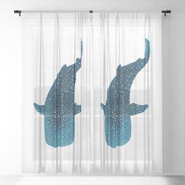 Whale Shark Marine Life Sheer Curtain
