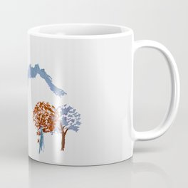 Mountain trees watercolor Coffee Mug
