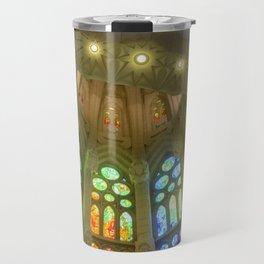 Stained Glass Sagrada Familia Travel Mug