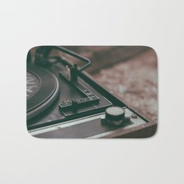 Vintage turntable Bath Mat