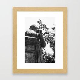 Looking Skyward 2 BW Framed Art Print