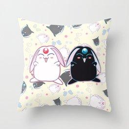 Black & White Mokona Throw Pillow