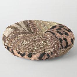 Gold Lioness Safari Chic Floor Pillow