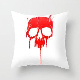 Classic Metal Graffiti Skull - Dripping Paint product Throw Pillow