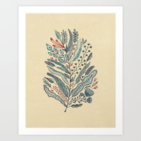 leaf Art Prints featuring Turning Over A New Leaf by Monica Gifford