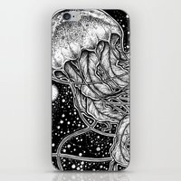 jellyfish iPhone & iPod Skins featuring Jellyfish by Corinne Elyse