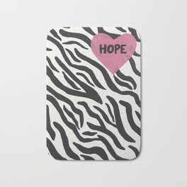 Zebra Hope Bath Mat