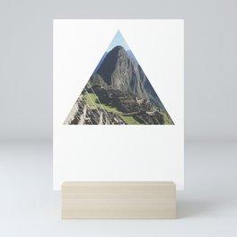 Machu Picchu - Geometric Photography Mini Art Print