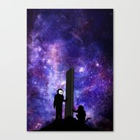 2001 a space odyssey Canvas Prints featuring 2001: A Space Odyssey  by Joshua S