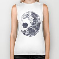 waves Biker Tanks featuring Swell by Huebucket
