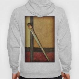 Artist Brush On Abstract Copper Canvas Artwork - Vintage - Modern Art - Painter Hoody