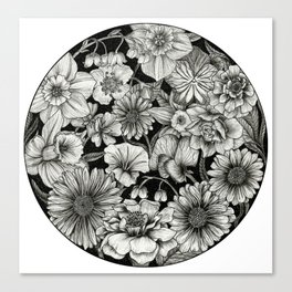Birth Flower Bundle Canvas Print