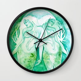 Goddess of Pisces - A Water Element Wall Clock