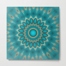 Turquoise Jewels Metal Print