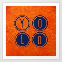 YOLO Dark Blue Art Print