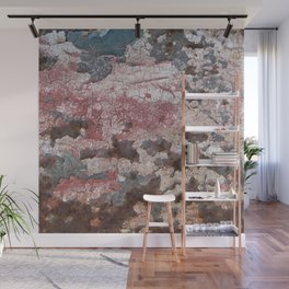 Cracking Paint and Rust Abstract Wall Mural