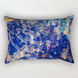 Colorful New York City Skyline Rectangular Pillow