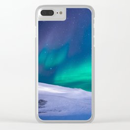 winter sky aurora Clear iPhone Case