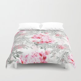 PINK ORCHIDS IN SPRING BLOOM Duvet Cover