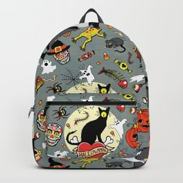 Happy Halloween (grey) Backpack