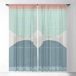Abstract Geometric 22 Sheer Curtain