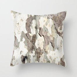 Bark Map Throw Pillow