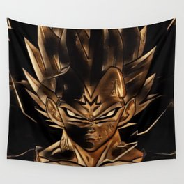 Dragon Ball Vegeta Artistic Illustration Energy Style Wall Tapestry