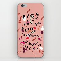 Pig Ate My Pizza iPhone & iPod Skin