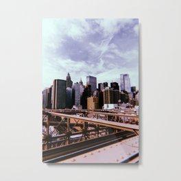 New York City // Retro 39 Metal Print