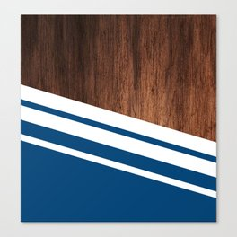 Wood of blue Canvas Print