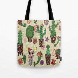 mosaic cactus plant pots Tote Bag