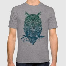 Warrior Owl Mens Fitted Tee Tri-Grey X-LARGE