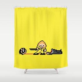 Kill Pixel Bill  Shower Curtain
