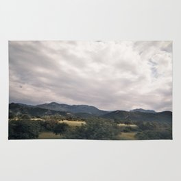 Cypress mountains and forests Rug