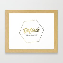 Inspiring Gift Ideas for Entrepreneurs #4 - Gold on White Framed Art Print