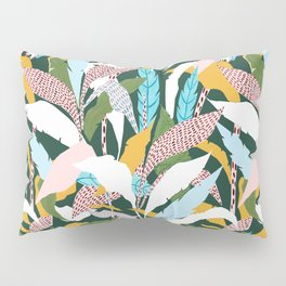 Fragmented Jungles Pillow Sham