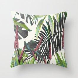 Watercolor Plants II Throw Pillow