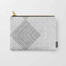 Stripe Geometric Stack Carry-All Pouch