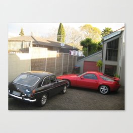 Porsche 928 and MGB GT V8 spotted in Auckland, New Zealand Canvas Print