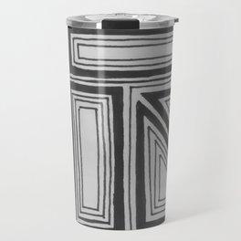 Geometric squares Travel Mug