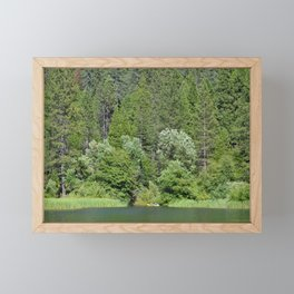 one kayak in the green Framed Mini Art Print