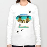 beach Long Sleeve T-shirts featuring Beach Bums by Roger Wedegis
